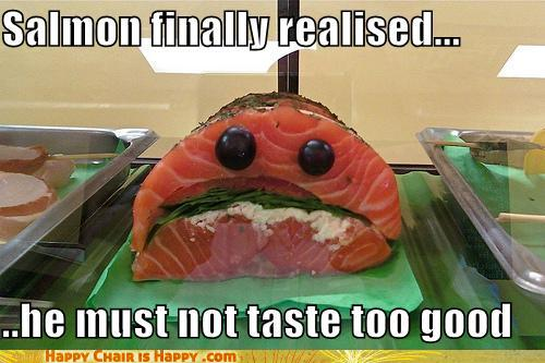 objects with faces Salmon Finally Realised...