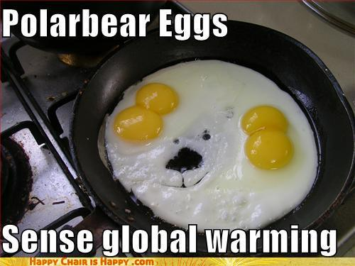Objects With Faces-Polarbear Eggs Sense Global Warming