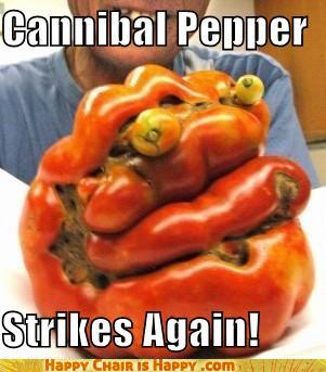 objects with faces-Cannibal Pepper  Strikes Again!