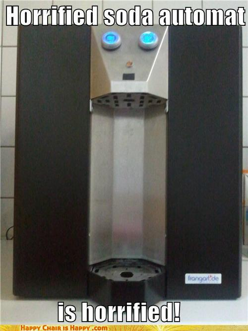objects with faces-Horrified Soda Automat is Horrified!