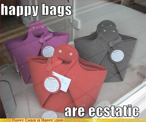 Objects With Faces-Happy Bags Are Ecstatic