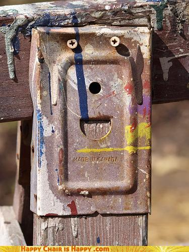 Objects With Faces-Happy Sawhorse is Weeping Tears of Joy