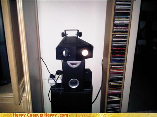objects with faces-Happy Disco Robot is Grooving to His Jam!