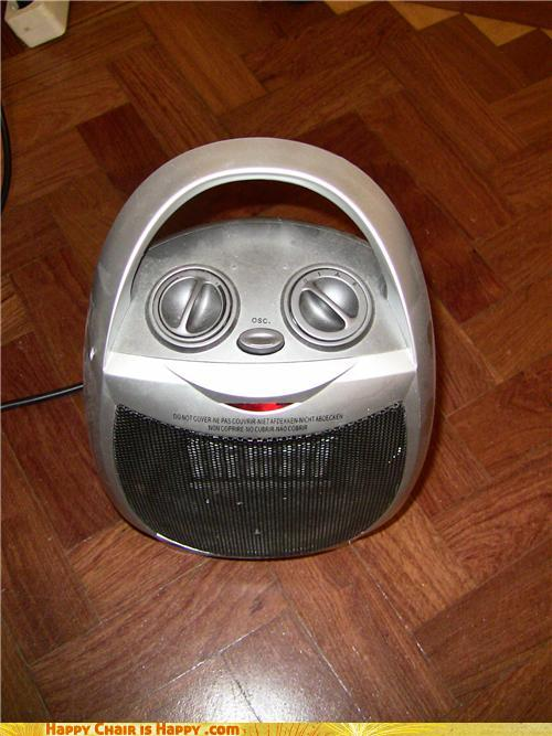 objects with faces-Happy Heater is Happy It's Almost Winter Again!