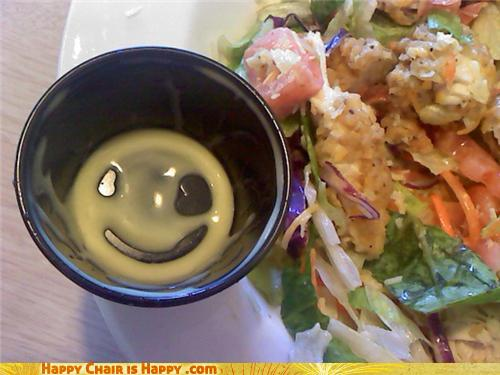 objects with faces-Happy Dressing Dish Remains Happy