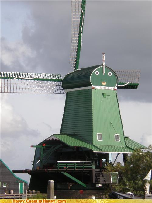objects with faces-Happy Windmill Will Happily Mill Your Grain