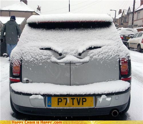 objects with faces-Angry Mini Is NOT Pleased With the Weather
